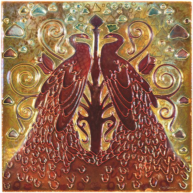 Галилео Киниchini Piastrella con pavoni affrontanti.jpg