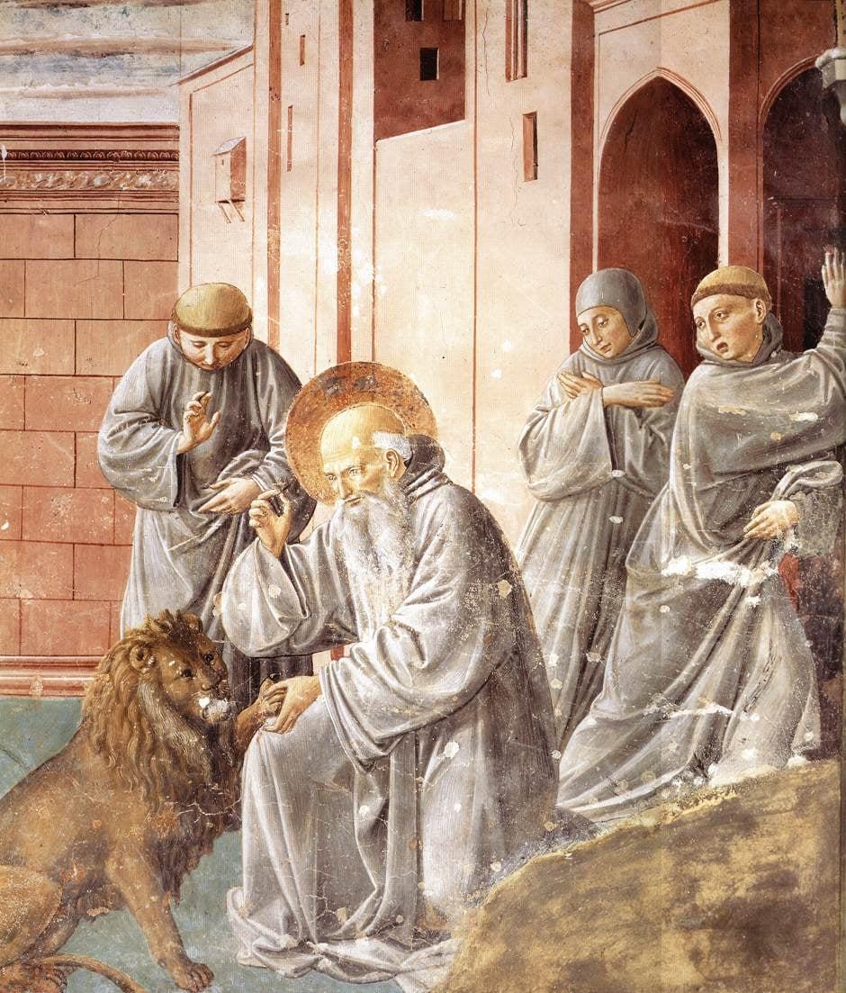 Гоццоли - святой Иероним лечит льва..jpg