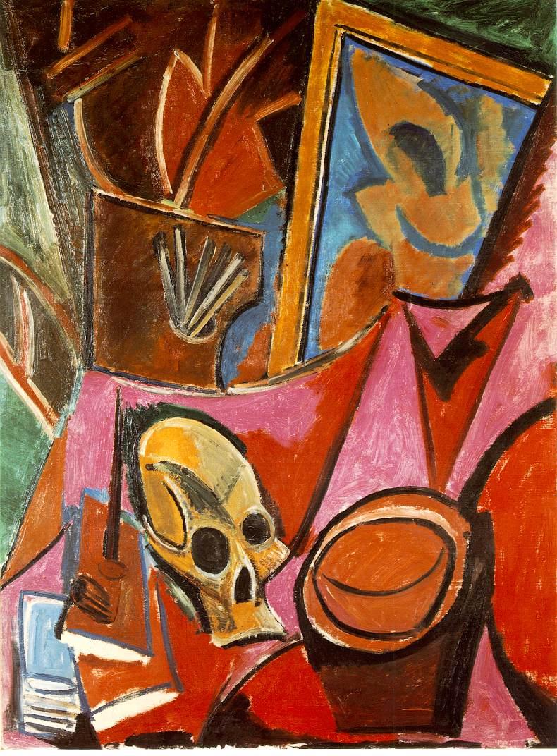 Живопись_Пабло-Пикассо_Composition-avec-tete-de-mort-1908.jpg