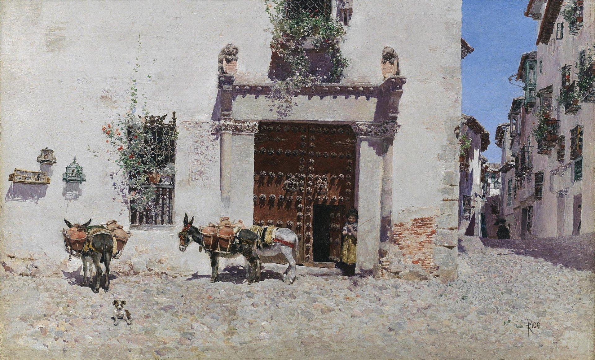 Живопись_Marn-Rico-y-Ortega_Puerta-de-una-casa-en-Toledo-1875-1878.jpg