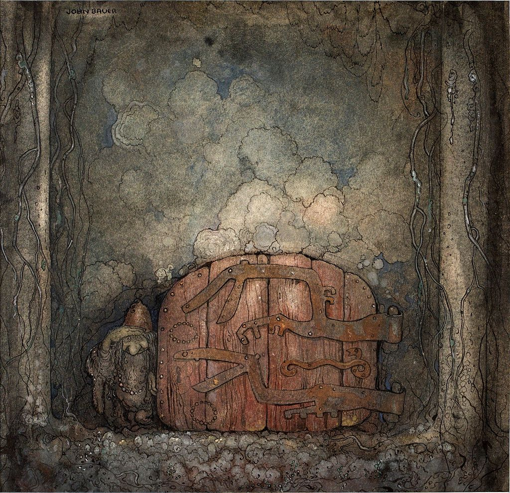 Йон БауэрBergaporten_by_John_Bauer_1918.jpg
