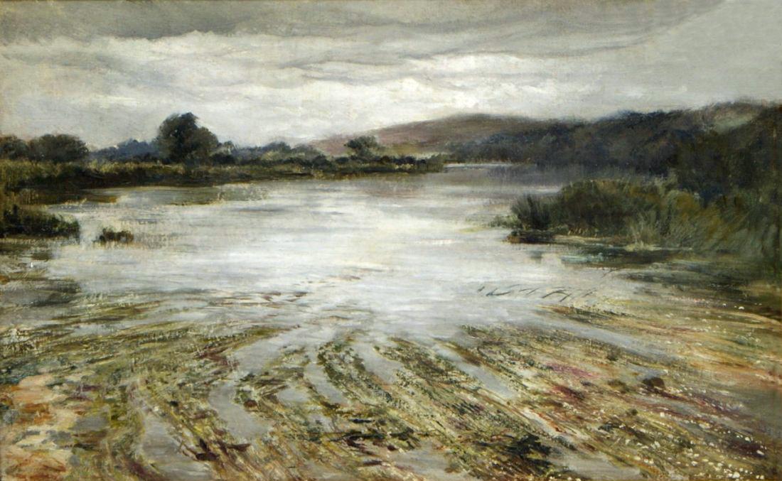 Кили Халсвиль (1832-91)Keeley Halswelle - River Weed.jpg