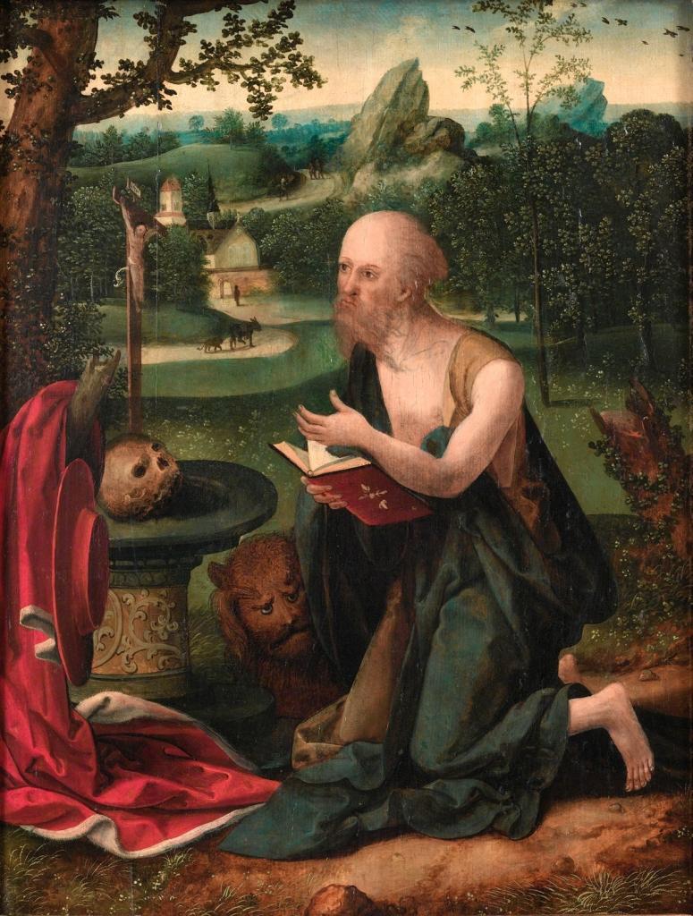 Круг. Святой Иероним молится в пейзаже.jpg