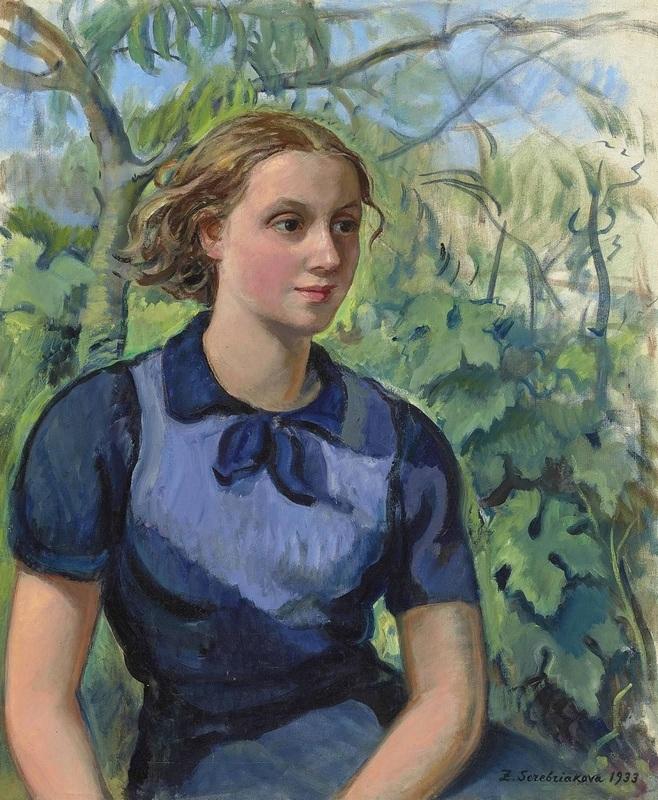 Май Статья 51 (7) Серебрякова Зинаида. Портрет Кати, дочери художницы. 1933.jpg