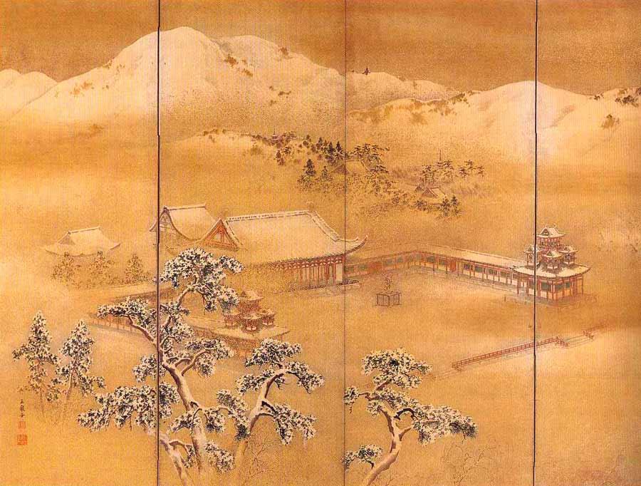 Мотидзуки Гёкусэн, Mochizuki Gyokusen (1834 -1913)moon-over-lake.jpg
