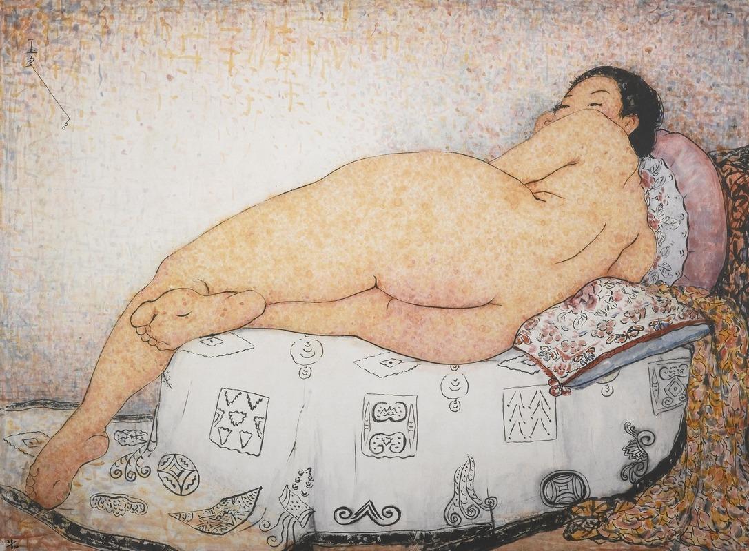 Пань ЮйлянЖенщина, лежащая на боку.jpg
