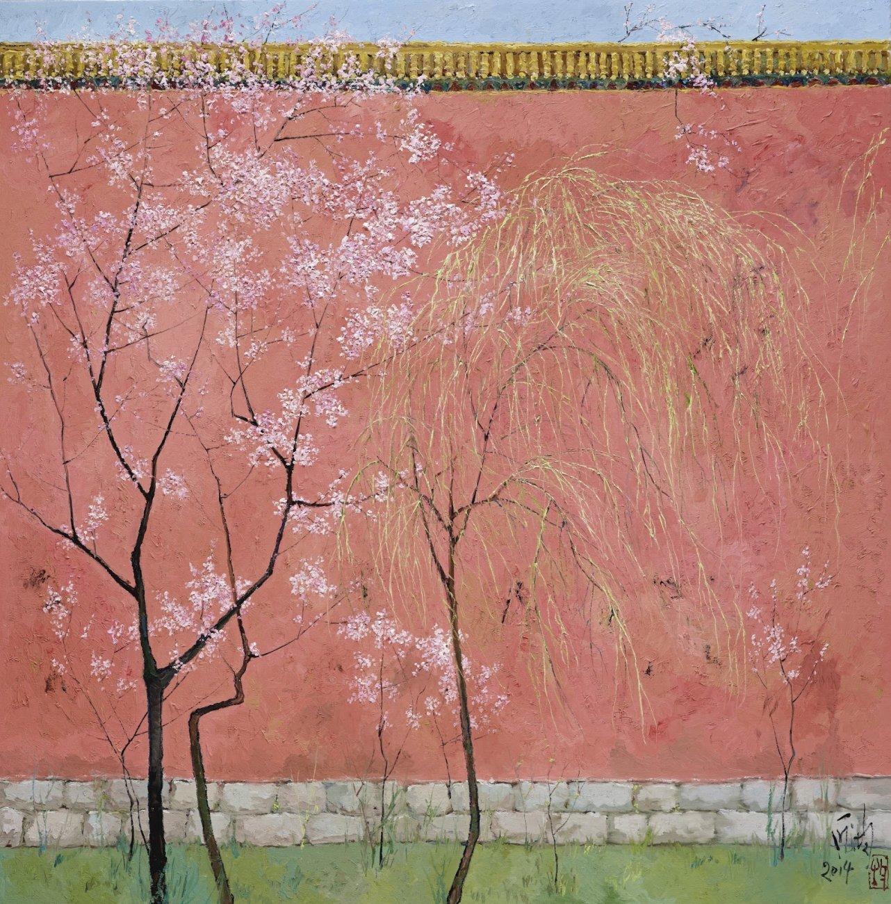 Пан Цзюнь дворец ивы весной.jpg