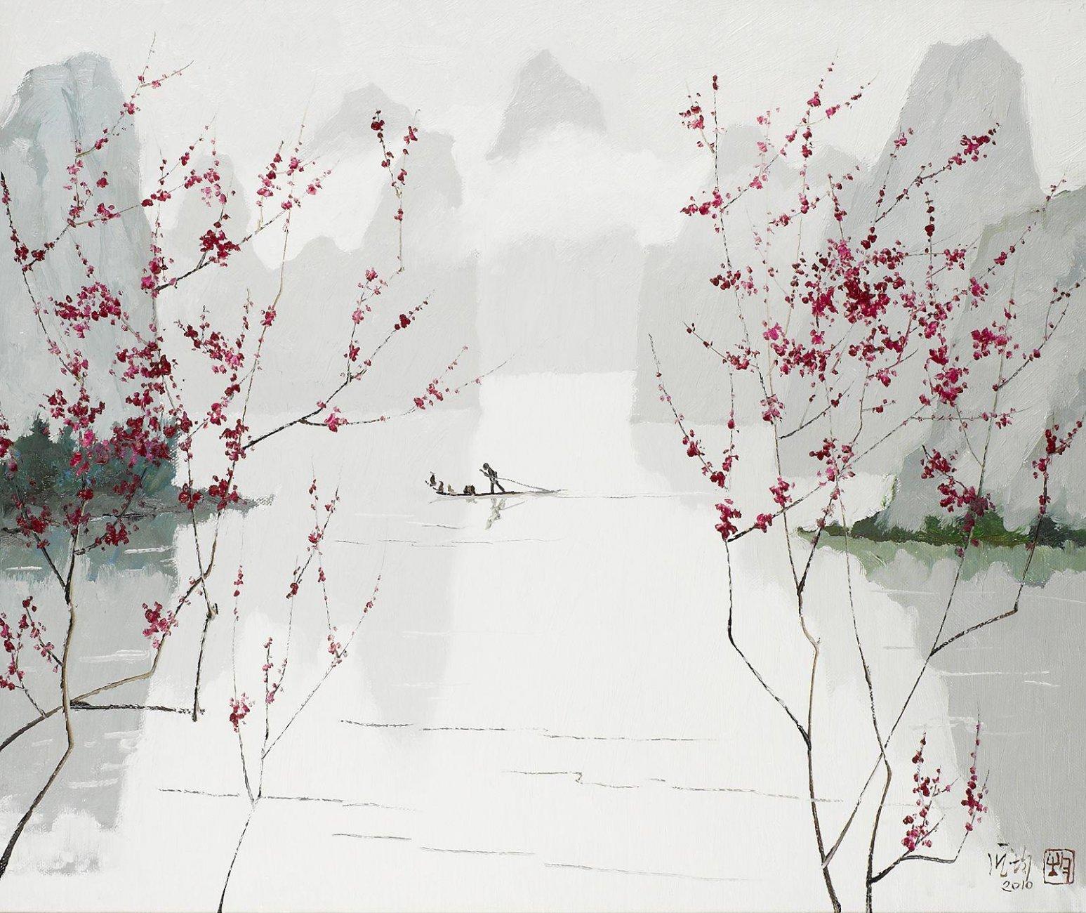 Пан Цзюнь1 весенняя река.jpg