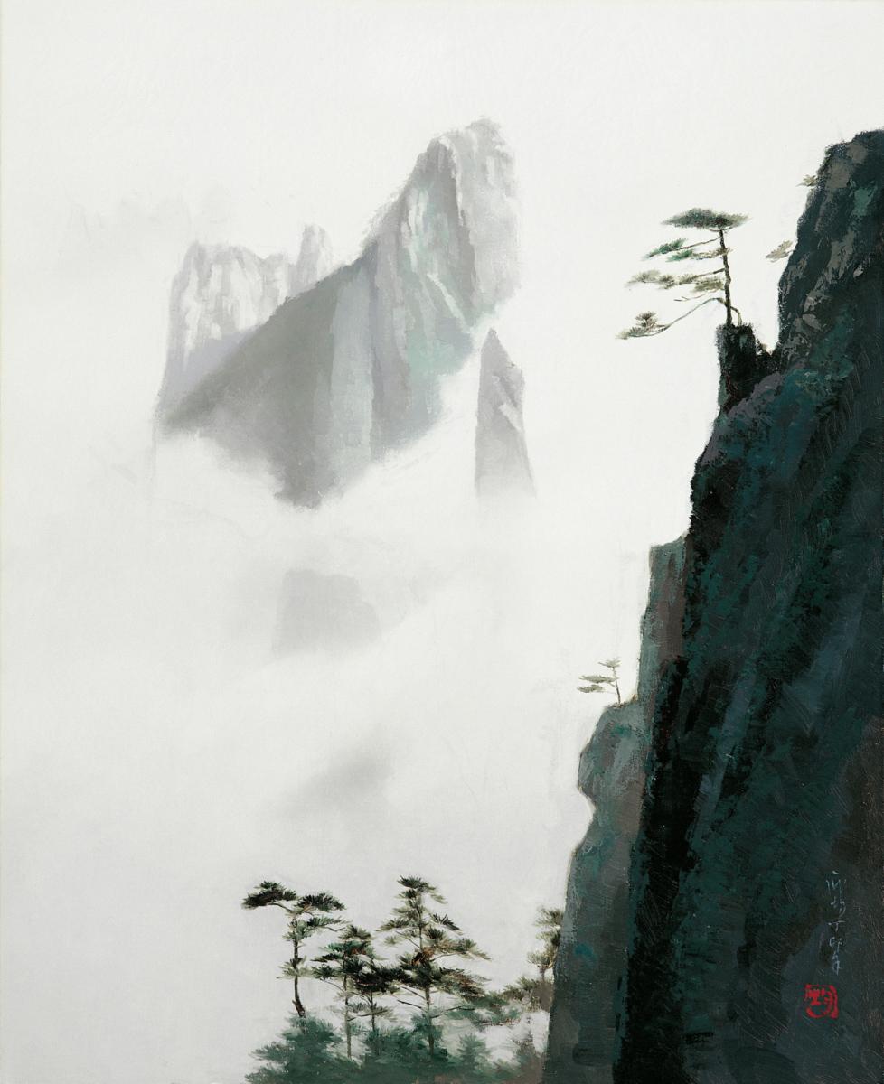 Пан Цзюнь1987_Пейзаж с облаками (Landscape with Clouds)_88 х 72_х.,м._Частное собрание.jpg