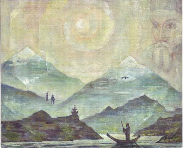 Рерих. Гималаи. Горное озеро.jpg
