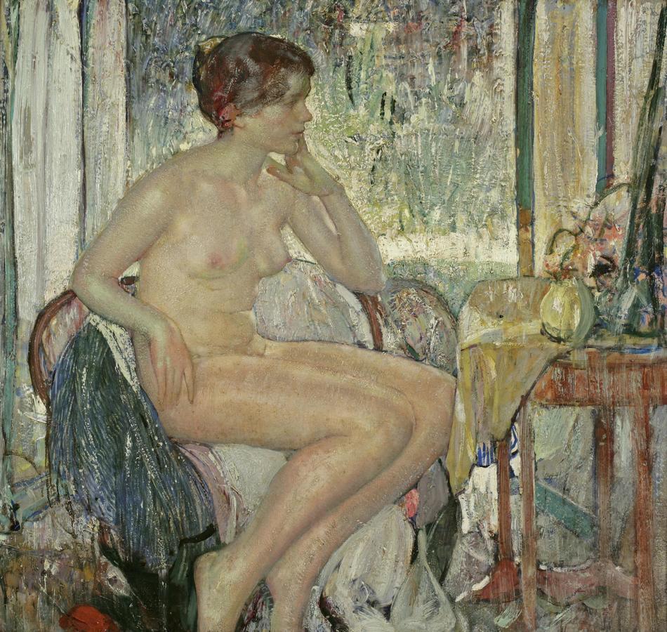 Сидящая обнаженная (Seated Nude)_.jpg