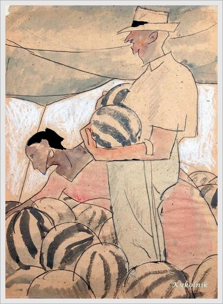 Сойфертис Леонид Владимирович (Россия, 1911 – 1996) «За выбором арбузов» 1971.jpg