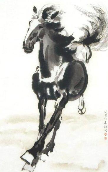 Сюй Бэйхун XuBeihong-Pferd.jpg