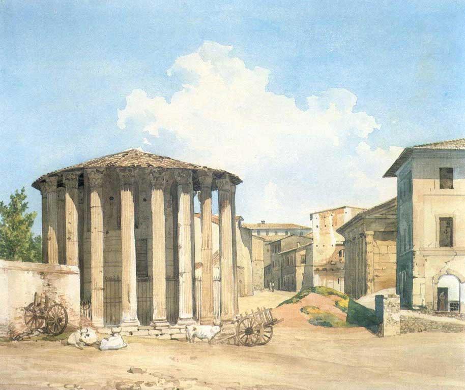 Храм Весты в Риме. Конец 1830-х.jpg