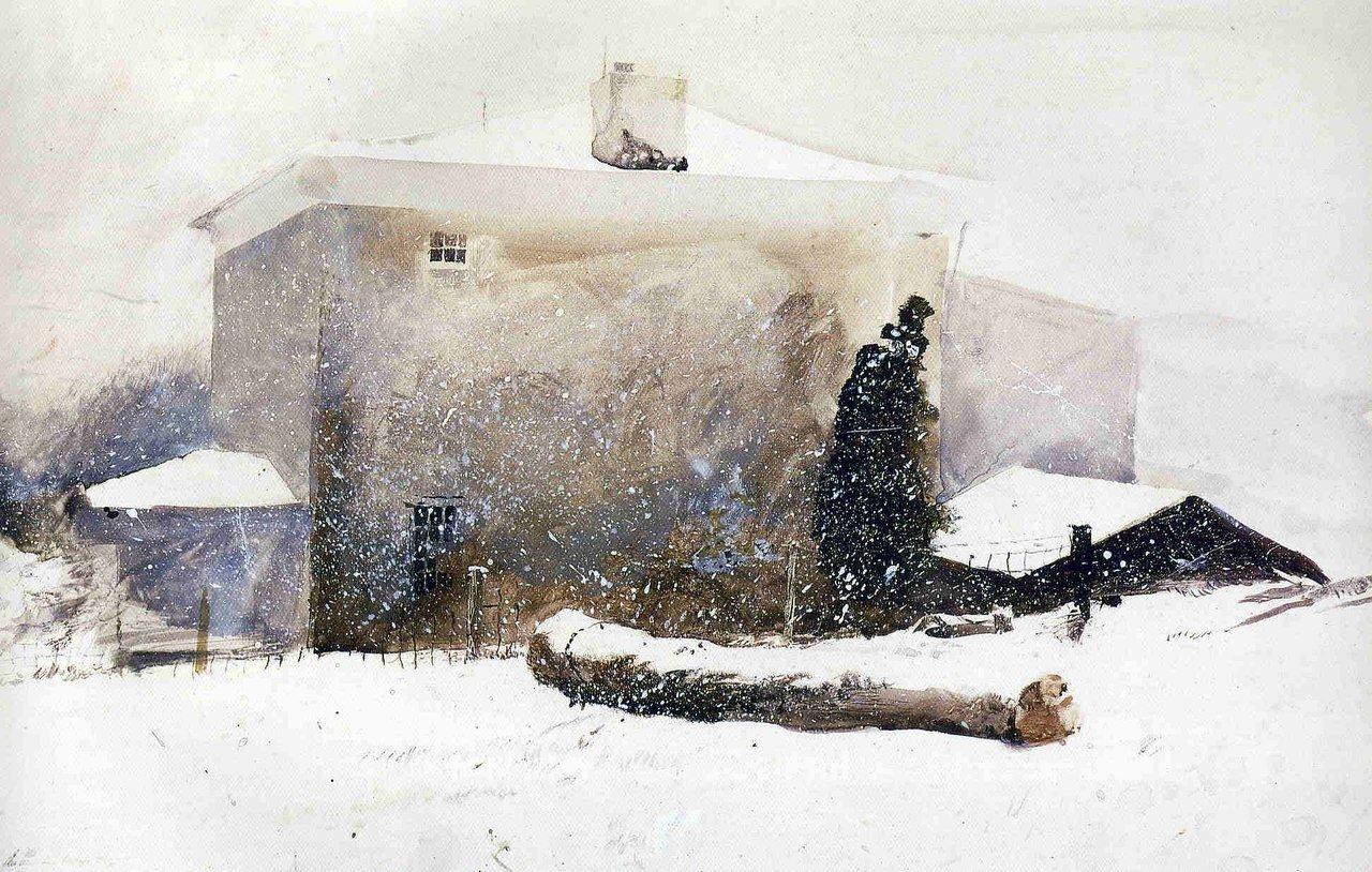 Эндрю Уайет - снег и дом.jpg