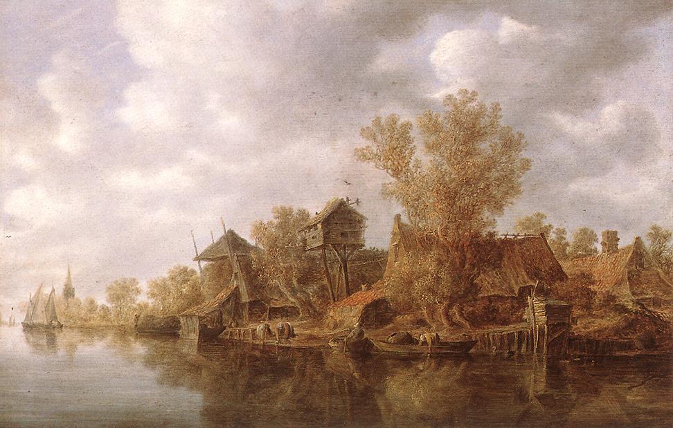 ван гойенvillage_at_the_river-large.jpg
