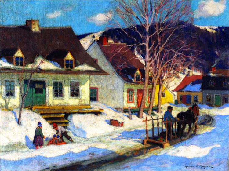 ганьон канада a-quebec-village-street-winter-1920.jpg!Large.jpg