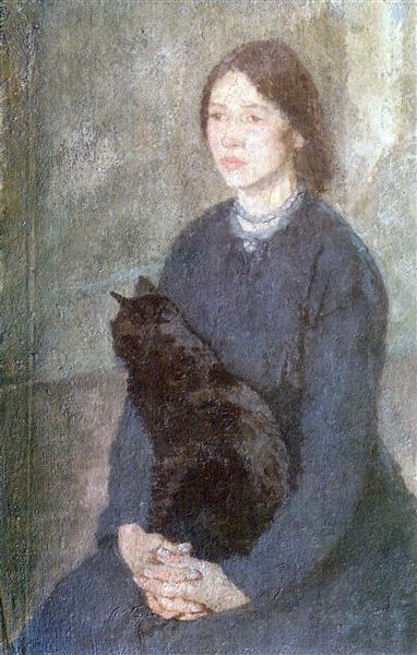 гвен джонyoung-woman-holding-a-black-cat.jpg!Large.jpg
