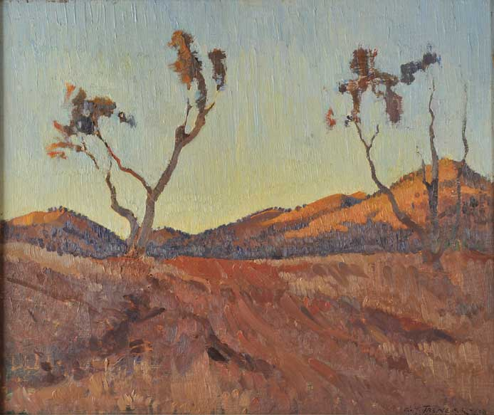 гораций треннери evening-light-flinders-ranges-sa-1930.jpg