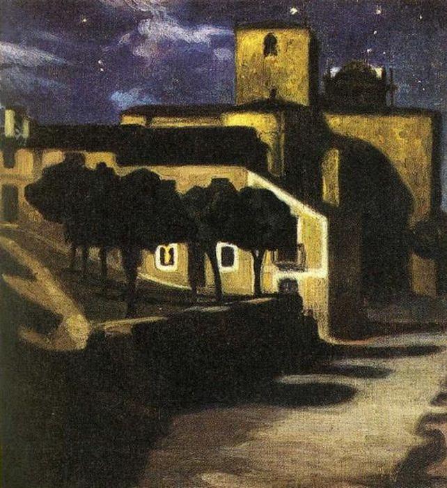 ривера Picture 48 Night in Avila 1907.jpg