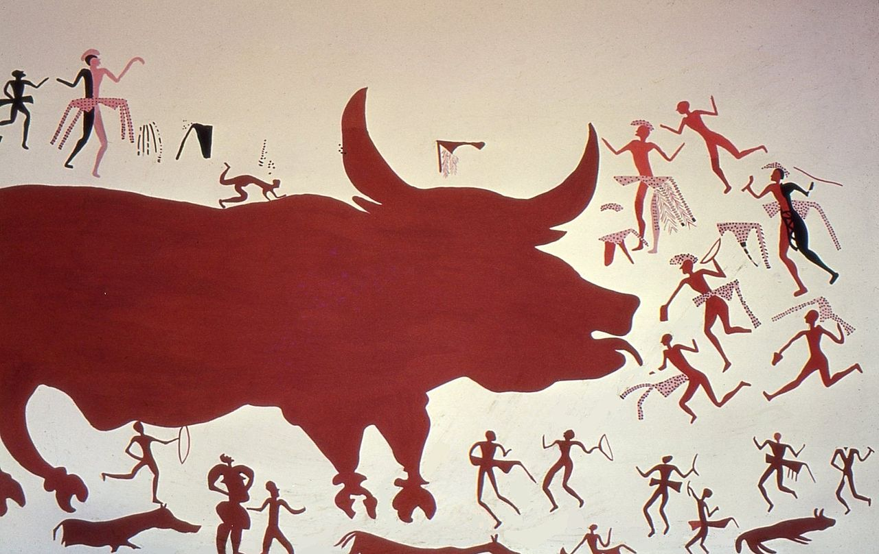 чаталA_reconstruction_of_the_aurochs_hunting_scene_in_the_mural..jpg