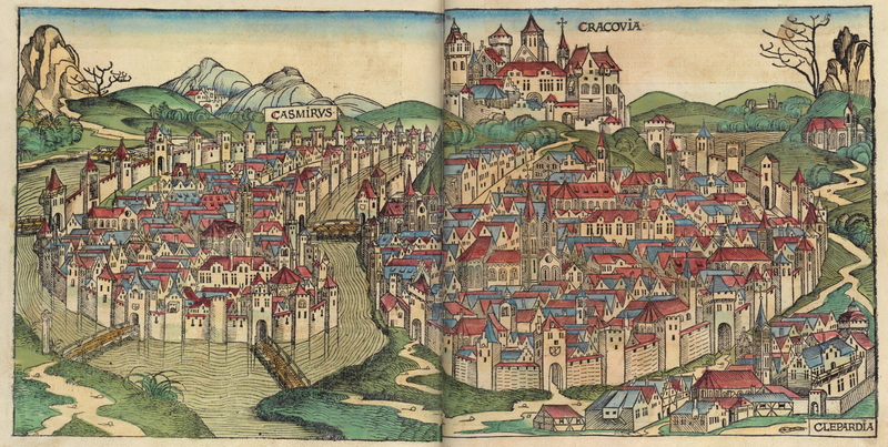 шедель кон 15 в краков800px-Nuremberg_chronicles_-_CRACOVIA.png