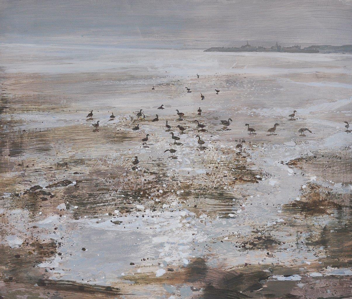 06 Wild geese in sunlight 33x39.jpg