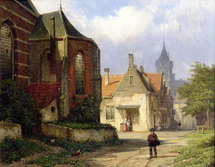 1-figure-before-a-redbrick-church-in-a-dutch-town-willem-koekkoek.jpg