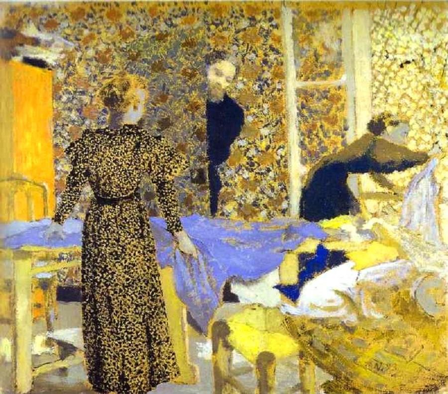 1 Jean douard Vuillard (French artist, 1868-1940) 1893 The Studio or The Suitor.jpg