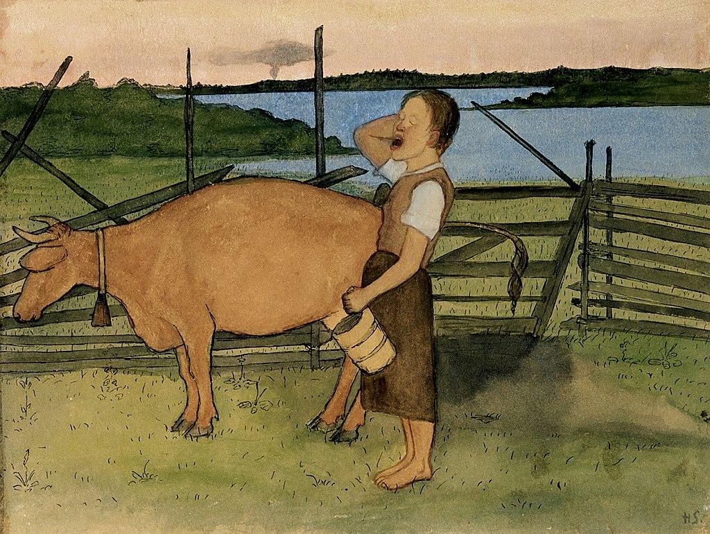 1024px-Hugo_Simberg_-_Morning_Milking_-_A_II_968-11_-_Finnish_National_Gallery.jpg