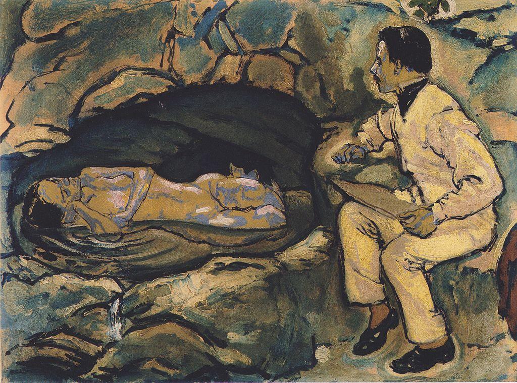 1024px-Kolo_Moser_-_Selbstporträt_mit_Meerjungfrau_-_1914.jpeg