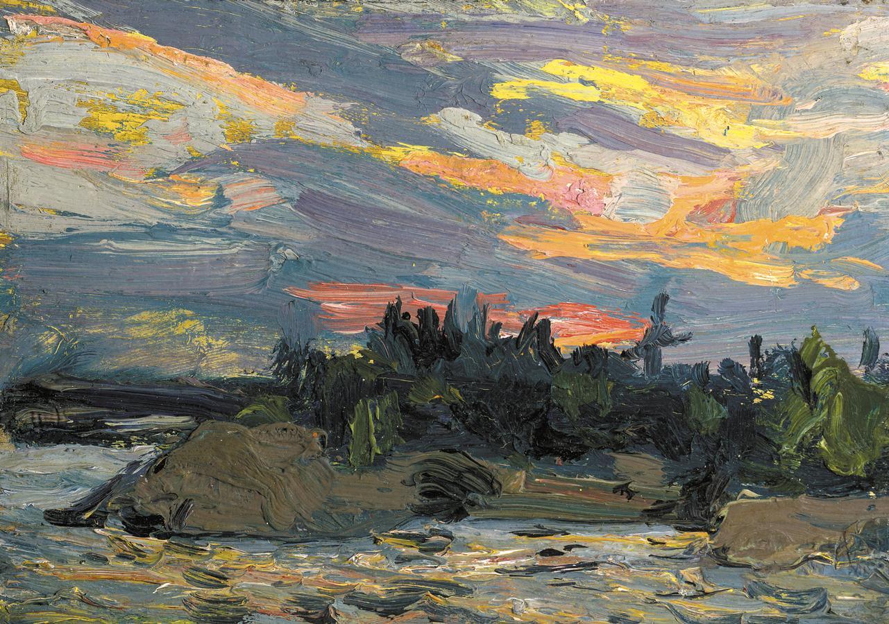 1150129 Sunset, Canoe Lake - gfall 1915 - Location Unknown.jpg