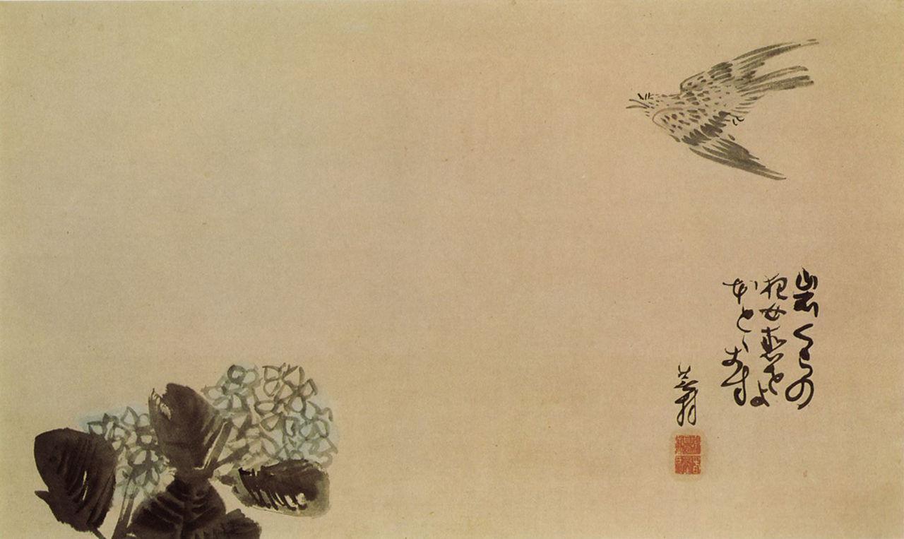 1280px-A_little_cuckoo_across_a_hydrangea(Haiga)_by_Yosa_Buson.jpg