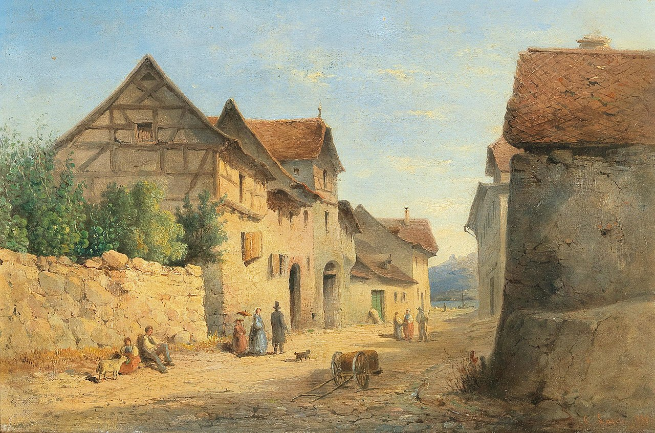 1280px-Carl_Lafite_-_Village_Road_with_many_decorative_figures (1).jpg