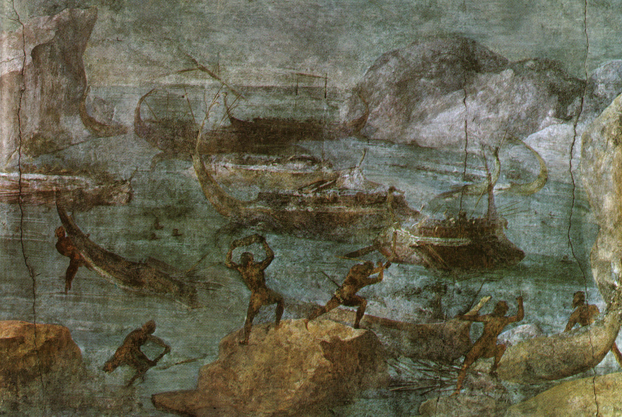 1280px-Casa_di_via_graziosa,_scena_dell'odissea_(attacco_dei_lestrigoni),_I_secolo_ac.jpg