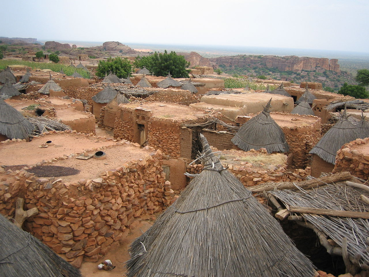 1280px-Dogon_village_rooftops_by_David_Sessoms.jpg