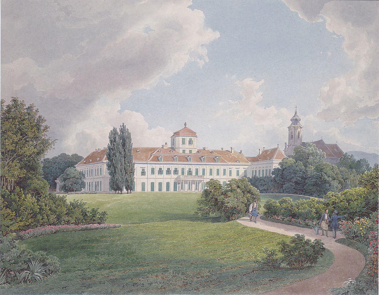 1280px-Eduard_Gurk_-_Der_Blaue_Hof_in_Laxenburg_bei_Wien_-_ca_1838.jpeg