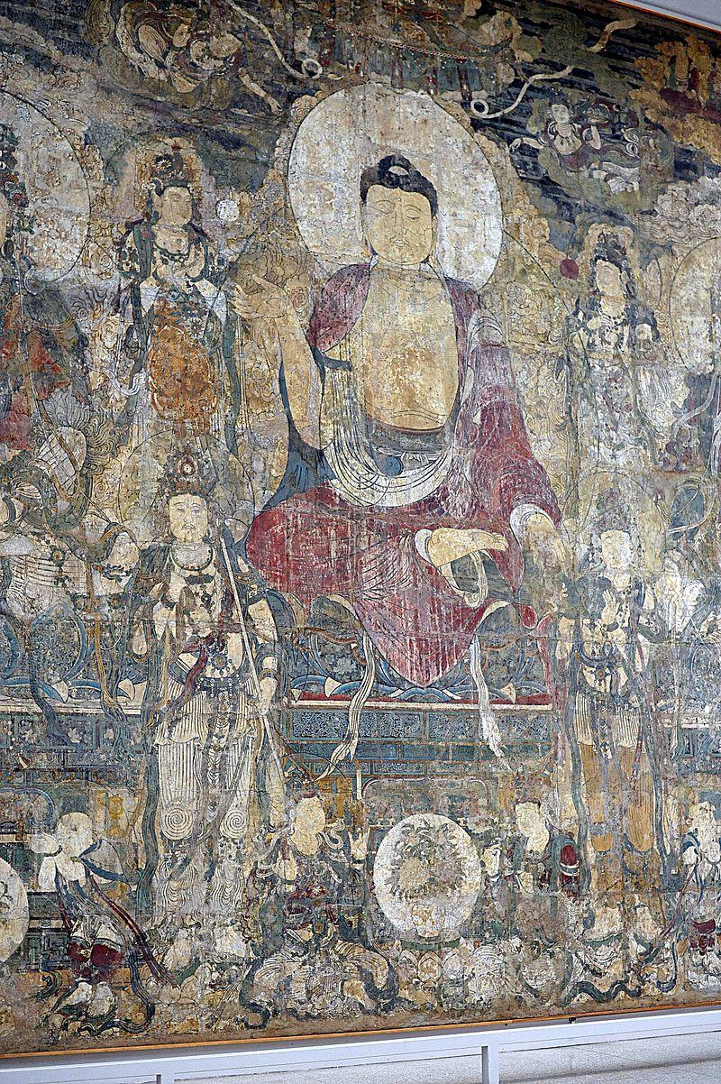 1309 юань_Paradise_of_Bhaisajyaguru__Buddha_wall_mural_in_the_Met_museum.JPG