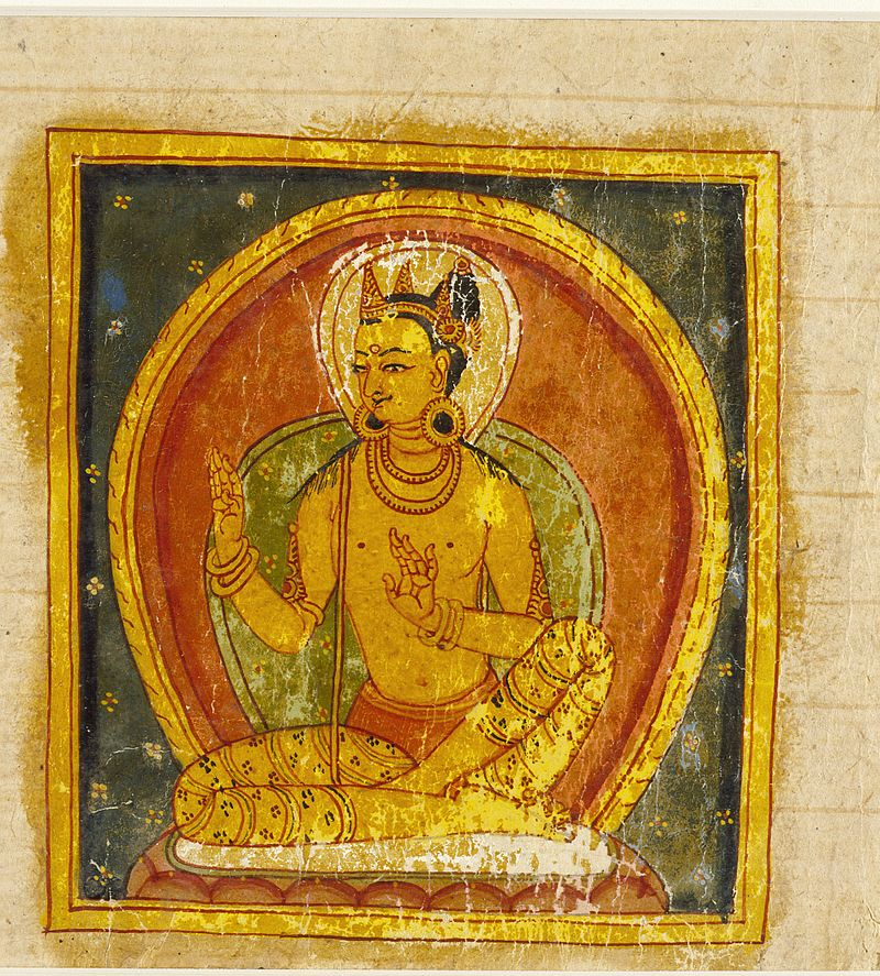 13A_Buddha_(left);_Crowned_Deity_(right);_Folio_from_a_Buddhist_Manuscript_LACMA_AC1992.209.2.jpg