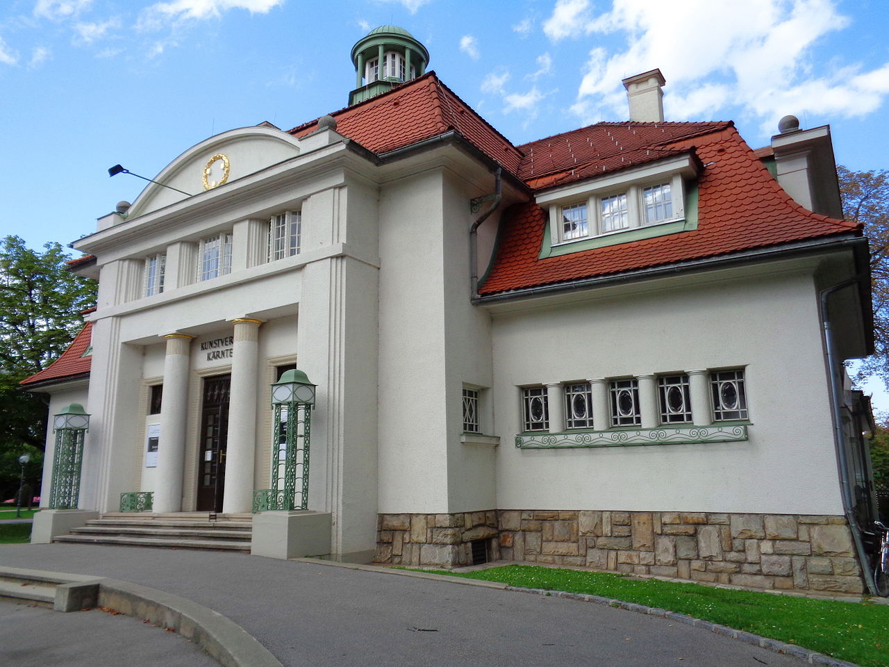 14 австрK.nstlerhaus_in_Klagenfurt_Blick_nach_Westen.JPG