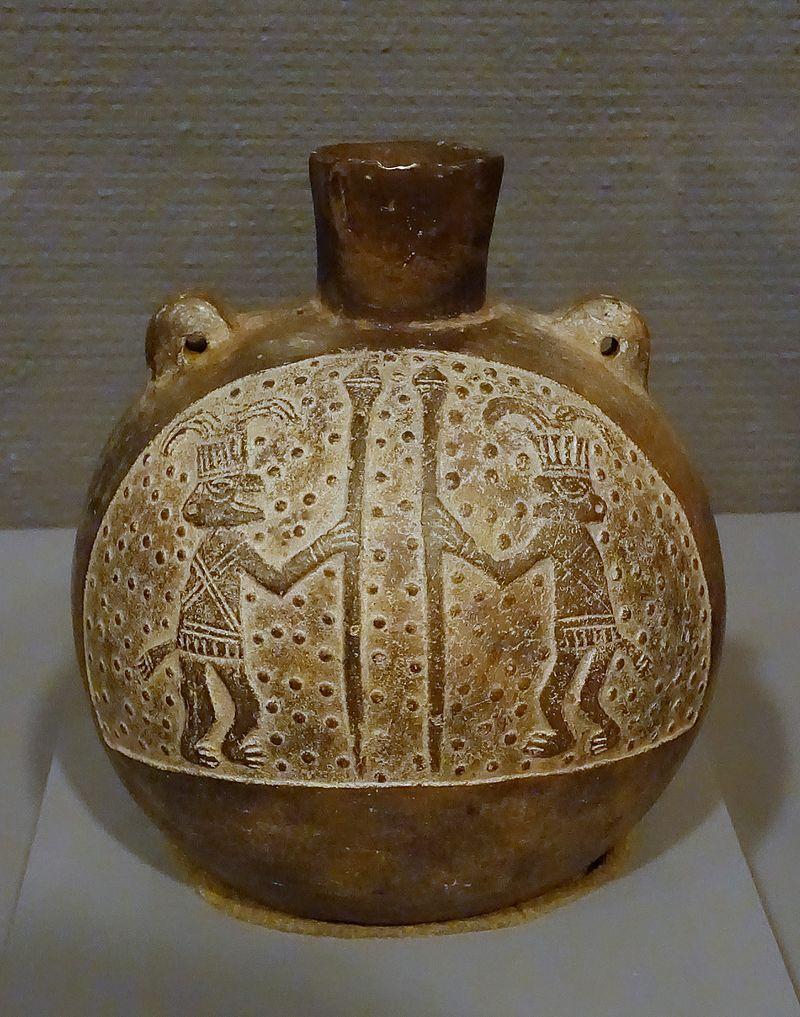 1400 lask-shaped_bottle,_Peru,_Chimu-Casma,_north_coast,_c._1400_AD,_blackware_-_.jpg