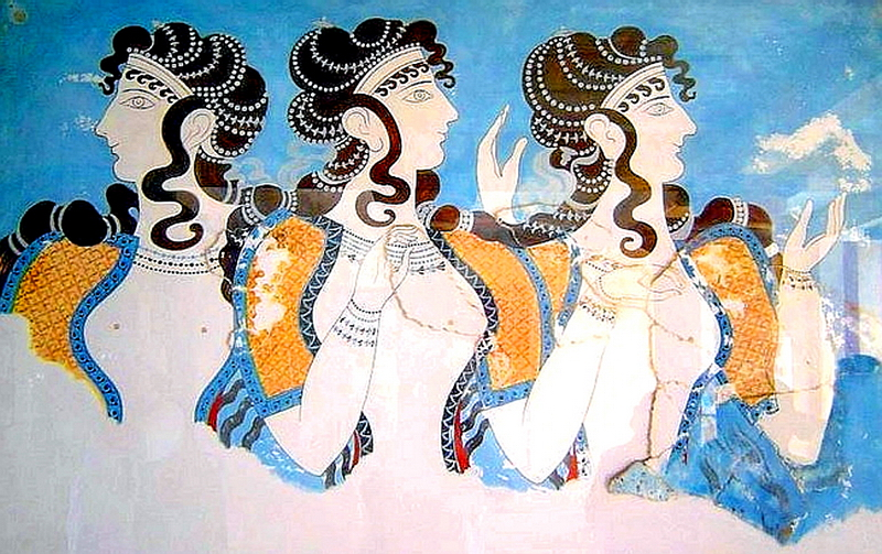 141.Критский дворец, фреска.jpg