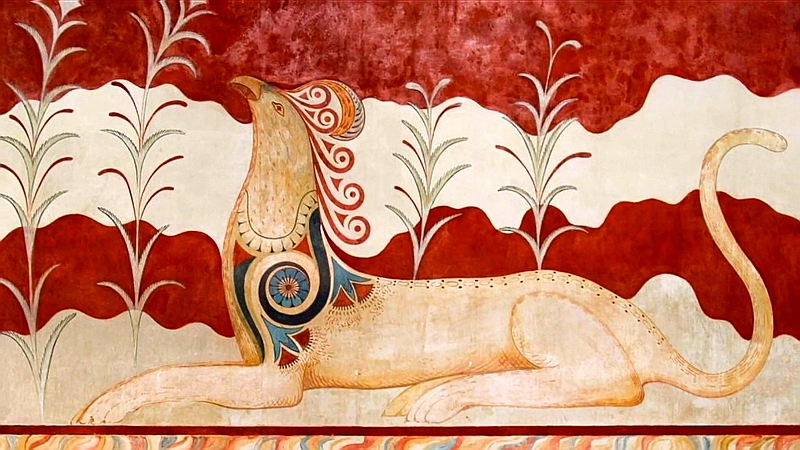 142.Критский дворец, фреска 2.jpg