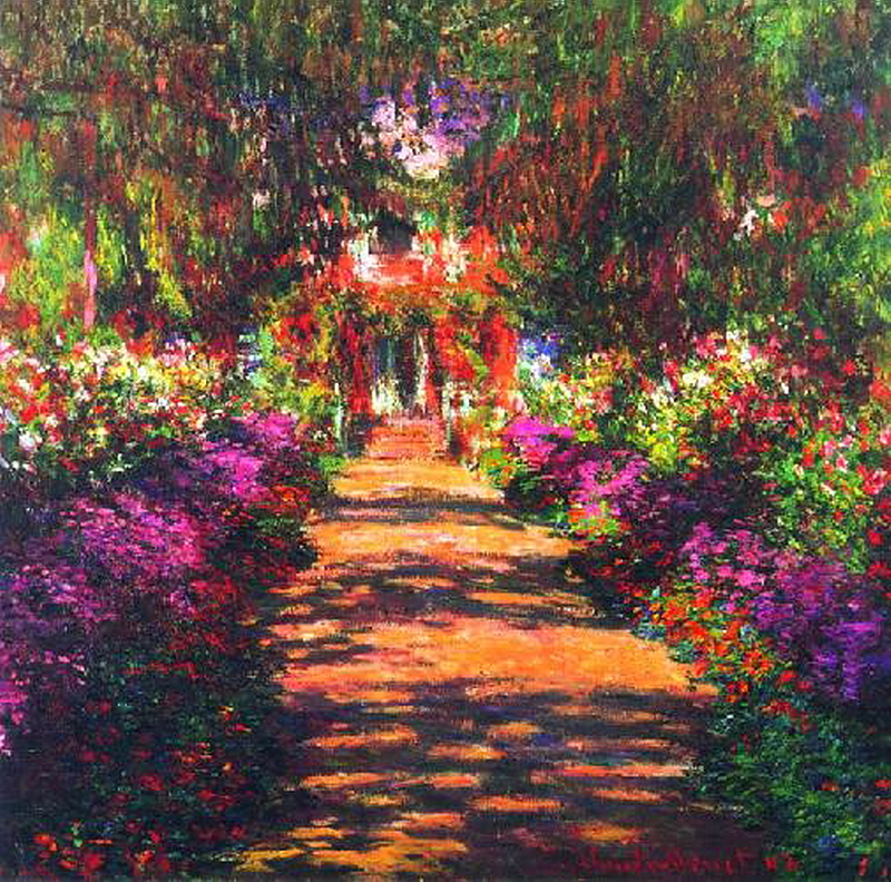 149. Клод Моне,Главная дорожка через сад в Живерни.jpg