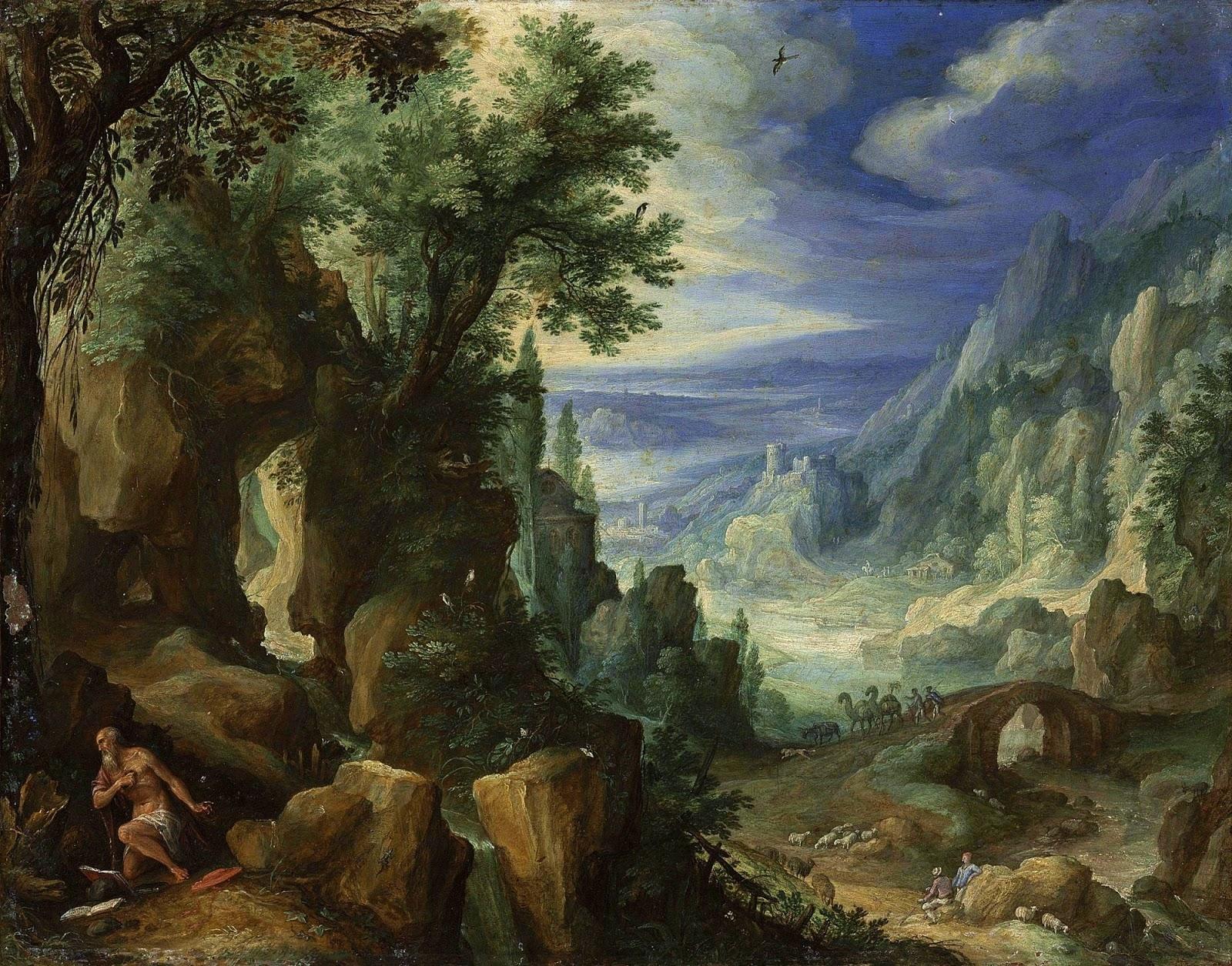 1592_Святой Иероним, молящийся в скалистом пейзаже_.jpg