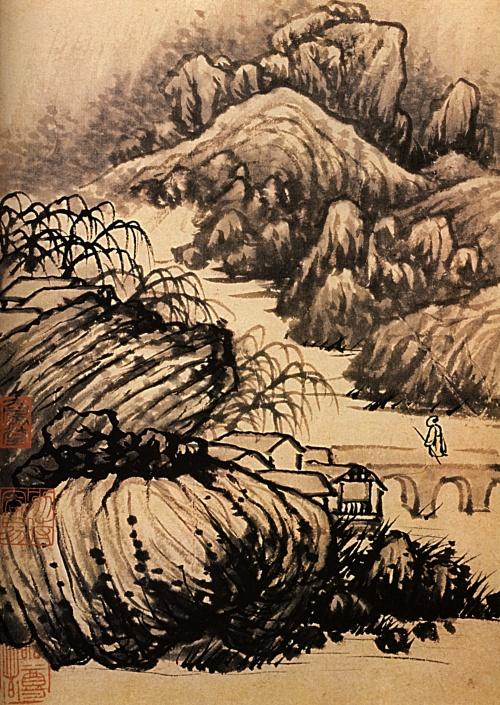 1707--shitao--randonnge-dans-les-parages-du-temple-du-dragon.jpg