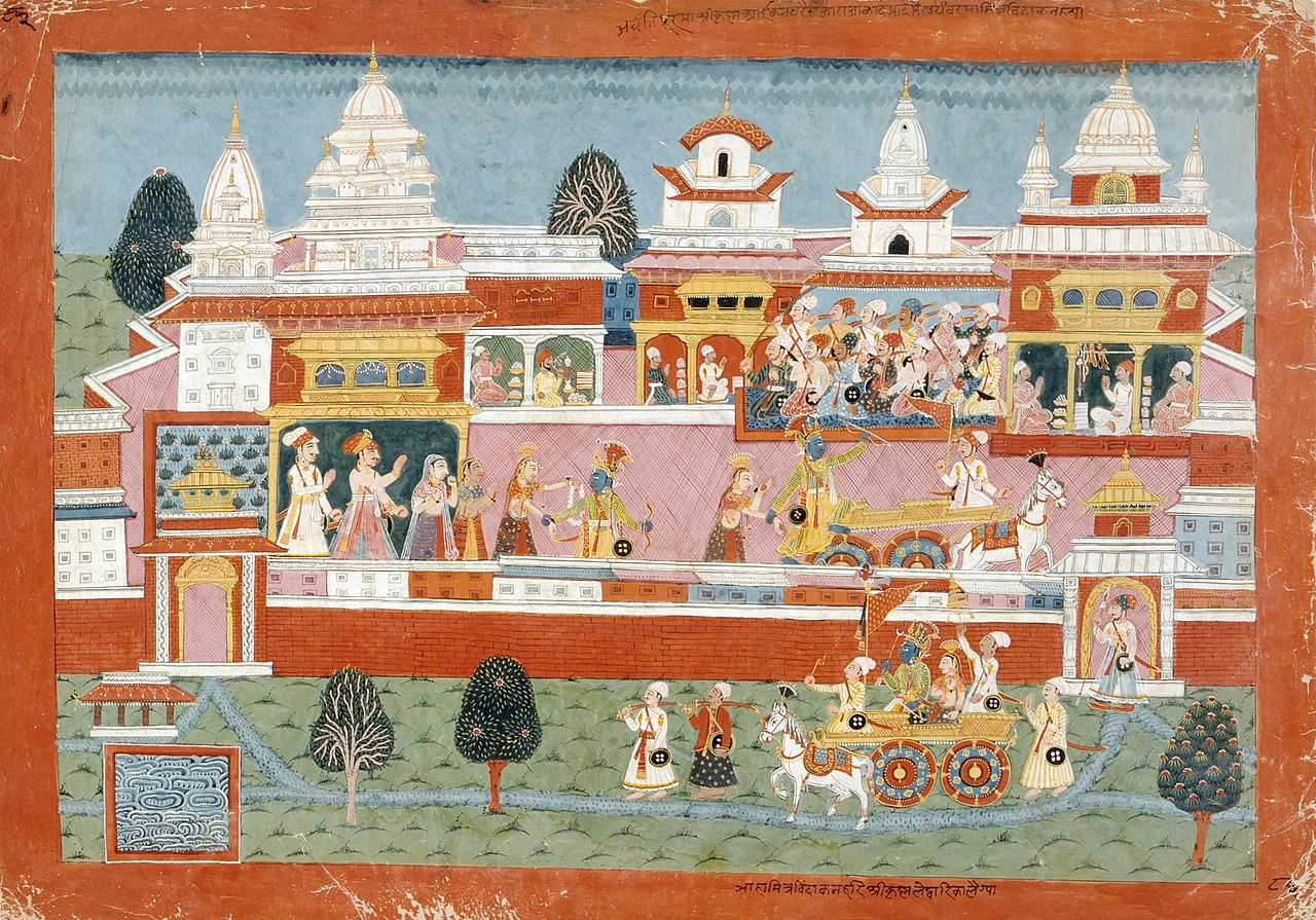 18 конKrishna_Abducts_Mitravinda,_Folio_from_a_Bhagavata_Purana_9.127.2.jpg