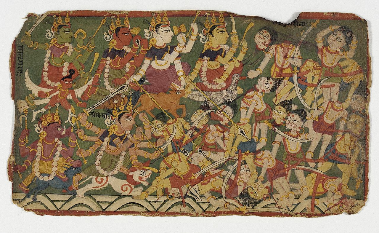 18The_Goddess_Ambika_Leads_the_Mother_Goddesses_in_Battle_(recto);.jpg