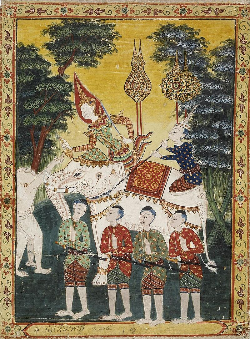 19 Thai_-_Vessantara_Jataka,_Chapter_2_(Himavanta_Forest)_-.jpg