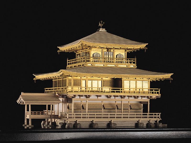 190.Кинкаку-дзи.Золотой павильон,макет.jpg